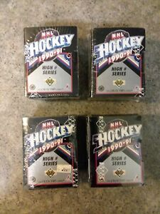 (4) 1990-91 Upper Deck NHL Hockey High Series FACTORY Sealed CARDS ORIGINAL OWNR