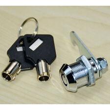 21.5mm Cam Lock +2 Key For Security Door Cabinet Mailbox Drawer Cupboard Locker
