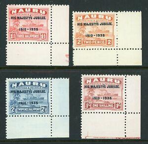 China 1935 Nauru KGV Silver Jubilee Scott 31-34 MNH Y294 ⭐⭐⭐⭐
