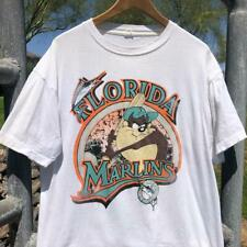 Vtg 90s Florida Marlins Taz Looney Tunes Cartoon Mlb Baseball T Shirt L/Xl