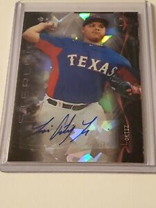 2014 Bowman Sterling Luis Ortiz Cracked Ice Auto #1/10 Texas Rangers
