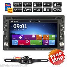 GPS Navigation 2Din In Dash Car Stereo DVD Player Bluetooth Radio iPod SD+Camera