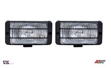 FOG SPOT LIGHTS SQUARE UNIVERSAL 12v CAR SUV 4X4 OFFROAD CLEAR LAMPS 148x75mm