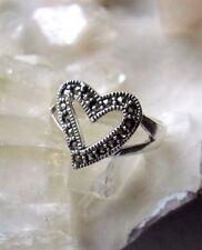 Ring mit Markasit, 925er Silber, Gr 18,1