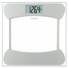 Taylor Digital Glass Scale with Stainless Steel Accents #7549S, Clear, EUC