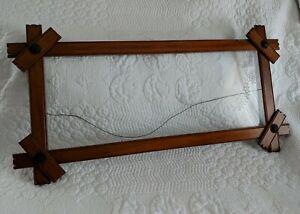 "Antique Maple Cross End Adirondack Frame 27"" x 13"""