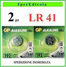 2 batterie batteria pile lr41 lr 41 a bottone alcaline alkaline 1,5V orologio.