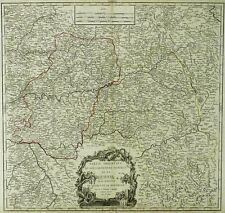 FRANKREICH - Aquitaine - Pyrenäen - De Vaugondy - kolor. Karte 1753