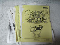 pages loose SEGA CUT THE CHEESE    arcade game manual