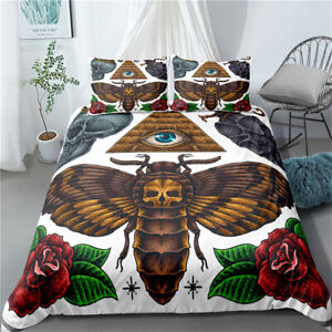 Cicada Skull Single/Double/Queen/King Bed Doona/Duvet/Quilt Cover Set Linen