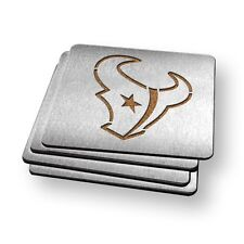 Houston Texans NFL Stainless Steel Sportula Boasters - Set of 4 Coasters