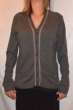 Elie Tahari long tunic gray  Wool  Cardigan Sweater Top s - m LOVELY