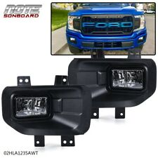 For 2015-2017 Ford F-150 Clear Front Bumper Fog Light Driving Lamps Complete Kit
