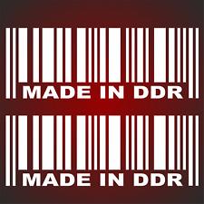 Made in DDR Style Aufkleber Sticker Sticker Bomb IFA DDR GDR Auto Karten Trabi