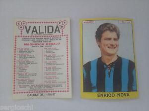FIGURINA CALCIATORI PANINI 1966 / 67 - ATALANTA-ENRICO NOVA-NUOVA-VALIDA