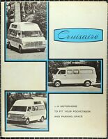 1969 Cruisaire Motor Home Ford Van Conversion Sales Brochure Old Price List