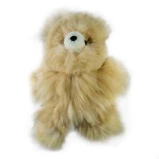 Hecho a mano, oso de juguete suave de piel de alpaca (marrón claro-Grande - 30cm) por inkita