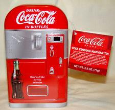 Coca-Cola Vending Machine Tin w/Cherry candy 2003