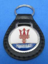 MASERATI BLACK LEATHER KEYRING KEYFOB #126