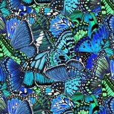Butterfly Garden Butterflies - Blue Quilt Fabric - Free Shipping - 1 Yard