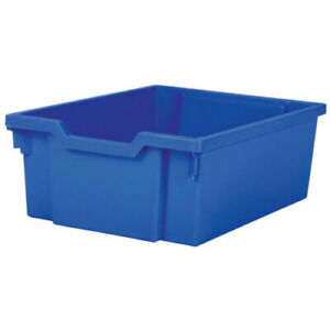 3 x Gratnells Deep Education Storage Tray 312 x 427 x 150mm Royal Blue with Lid