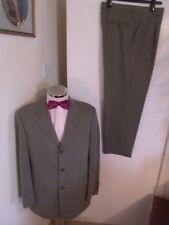 """CECIL GEE CG Men's Sage Textured 2PC Suit C40"""" Reg W34"""" L29"""" Classic Fit W/Blend"""