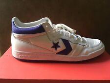 Mens Shoes Converse Size 11.5 White/Purple Mids