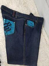 Rocawear Classic  Sequin Stitich Five Pocket Denim Jeans Plus Size 24 School,Job