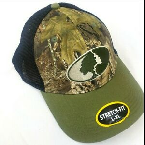Mossy Oak Camouflage Hunting Outdoor Hat L-XL STRETCH-FIT NETTED, BREATHABLE