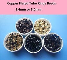 1000pcs hair extenson tools copper tube micro rings links Euro Locks