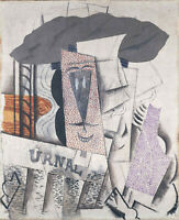 """Student with Newspaper (1913) by Pablo Picasso- 17"""" x 22"""" Fine Art Print - 00717"""