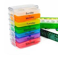 Weekly Pill Box Organizer Medicine Tablet Storage Dispenser 7 Day Week