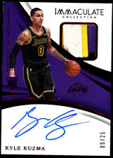 2017-18 Kyle Kuzma Panini Immaculate PATCH ROOKIE AUTO RC (9/25) *LAKERS CHAMP*