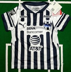 Rayados de Monterrey jersey Local boys kids Puma size YXXS 3 to 4 years old