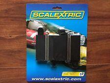 SCALEXTRIC 1/32 SLOT CAR TRACK 87 MM QUARTER  STRAIGHT TRACK 2 PK.  # C8200 F/S