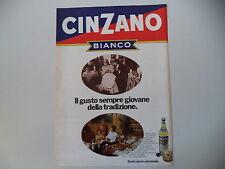 advertising Pubblicità 1973 CINZANO BIANCO