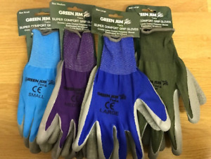 SUPER COMFORT LADIES MENS GARDENING GLOVES GRIP GLOVES LATEX BREATHABLE 3 SIZES