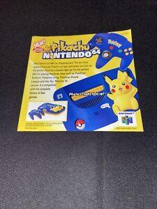 Pokemon Pikachu n64 Insert