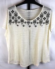 Maurices Cream Sheer Short Sleeve Top Plus Size 3  24/26