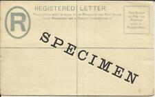Mauritius Registered Postal Envelope HG:C2(size F) SPECIMEN