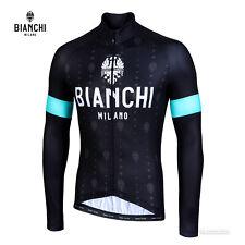 NEW 2021 Bianchi Milano PERTICARA Long Sleeve Cycling Jersey : BLACK