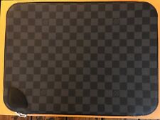 Genuine Louis Vuitton Damier Graphite Laptop Case Extremely RARE A MUST N41645