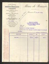 """HOUILLERE de BRASSAC (63) BOULETS & CHARBON """"MINES de BRASSAC"""" en 1938"""