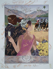 Breeders Cup Giclee Poster Signed x74 GARY STEVENS Mike Smith VICTOR ESPINOZA