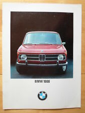BMW 1800 SALOON orig 1968 UK Market Sales Brochure Prospekt