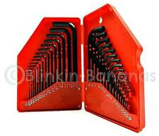 30PC MIXED ALLEN HEX KEY SET ASSORTED LONG SHORT METRIC IMPERIAL ALAN TOOL 12D