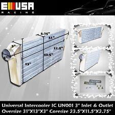 "UNIVERSAL INTERCOOLER 31x13x3 3"" Inlet Outlet Eclipse Lancer 7 8 9 1G Supra RX7"