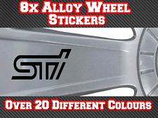 8x Subaru Alloy Wheel Stickers STI Impreza Forester BRZ Vinyl Decals Wing Mirror