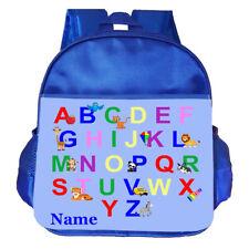 Abc Alphabet Personalised Customised Kids Toddler School Nursery Bag Backpack
