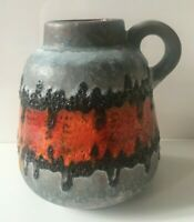 CARSTENS Keramik Vase Fat Lava 60er 70er  Form 1535-13 WGP orange
